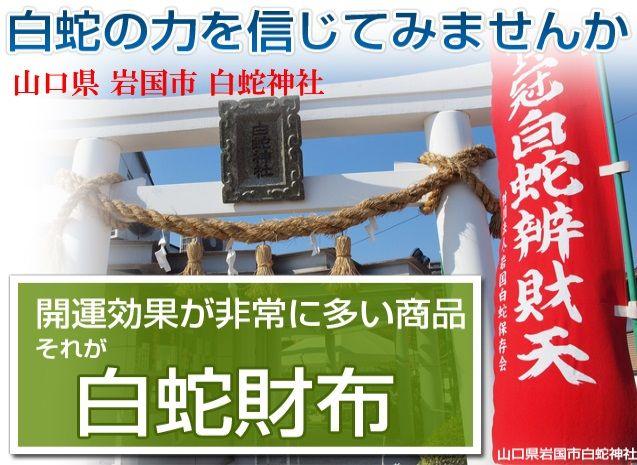 財布屋 白蛇財布 岩国白蛇神社